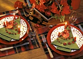 Christmas Table Setting with Candles
