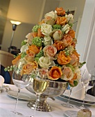 Centerpiece Made From Roses