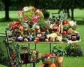 Geschenke aus dem Garten: Eingemachtes, Blumen, Kräuter etc.