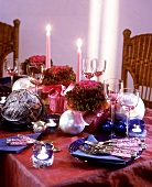 Festive table for Advent