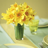A bouquet of yellow daffodils