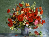 Summery bouquet of poppies