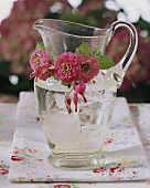 Water jug with floral decoration