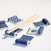 Asian table utensils: china rest for chopsticks