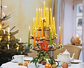 Candlestick with Advent decorations