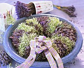 Mediterranean herb wreath - lavender and Gypsophila