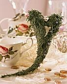 Cotton lavender heart