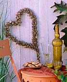 Heart of Nigella damascena (Love-in-a-mist) seed pods