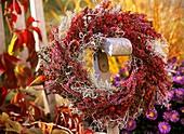 Wreath of heath (Erica) and heather (Calluna)