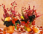 Spindle, Erica, Chinese lanterns, apples & ornamental cabbage