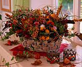 Autumnal arrangement with berries