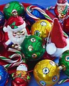 Colourful Christmas tree ornaments