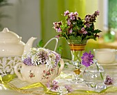 Sugar bowl decorated with spring flowers