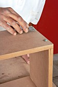 Making a wall cabinet (filling the screw holes with wood filler)