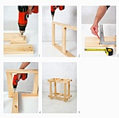 Making a wooden folding table (predrilling wooden boards)