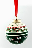 A Christmas bauble (green and white)
