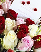 A bouquet of roses for Valentine's Day