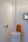 Shower and washbasin in an architect-designed house