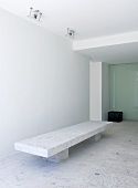 Inner room with stone bench in architect-designed house