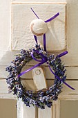 Lavender wreath on door knob