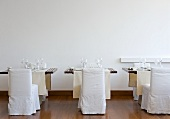 Laid tables in Hotel Casa Angelina (Praiano, Italy)