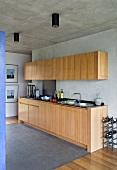 Kitchen units in Villa Nalu, Southern France