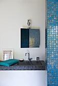 Washbasin in bathroom (Villa Nalu, Southern France)