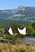 Designer chairs by swimming pool (Villa Nalu, Southern France)