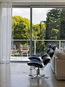 Designer chairs in Villa Bamboo, Southern France