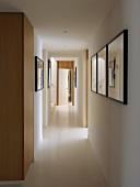 Corridor with pictures on wall (Villa Bamboo, Southern France)