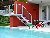 Terrace by swimming pool (Villa Bamboo, Southern France)