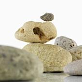Assorted pebbles (close-up)