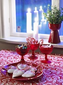 Christmas sweets on 'red table'