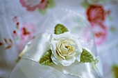 Floral fabric and silk with silk rose