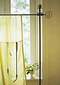 Organza curtain in sitting room
