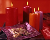 Potpourri bag with candles