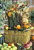 An autumn flower arrangement