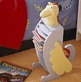 Dinosaur CD rack