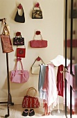 Bags hanging on a wall