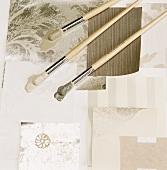 Paintbrushes & wallpaper samples