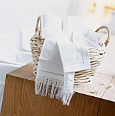 Tablecloths in a basket