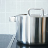A stainless steel pan
