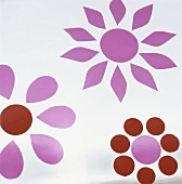 Coloured flower patterns on glass