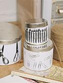 Tins for storing office utensils