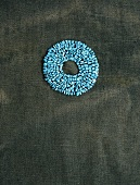 Turquoise stones arranged in circle