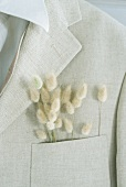 Jacket with dried flowers