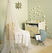 Nursery with cot and changing table