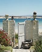 Garden gate leading to beach