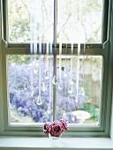Ornaments decorating window