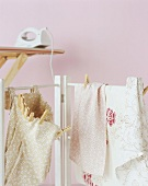 Laundry hung up to dry